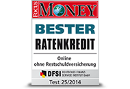 FOCUS Money Bester Ratenkredit 2014