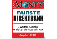 FOCUS Money Fairste Direktbank 2013