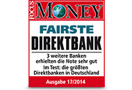 FOCUS Money Fairste Direktbank 2014