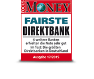 FOCUS Money Fairste Direktbank 2015