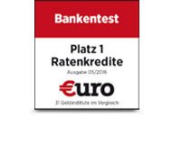 €uro Platz 1 Ratenkredit 2016