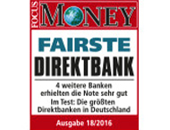 FOCUS Money Fairste Direktbank 2016