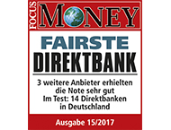 FOCUS Money Fairste Direktbank 2017