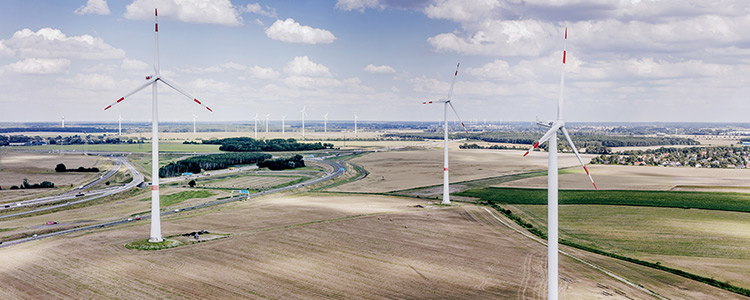 Windpark Lindenberg der Windprojekte Jan Teut GmbH