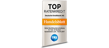 Handelsblatt Top Ratenkredit 2017